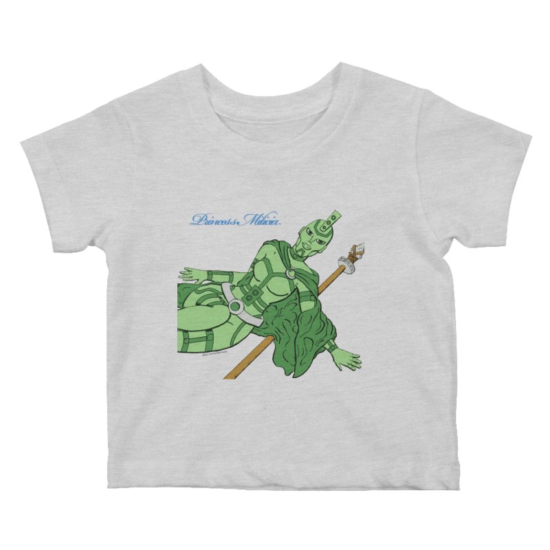 Princess Milicia after Roxy Music Kids Baby T-Shirt by The Official Bustillo Publishing Shop