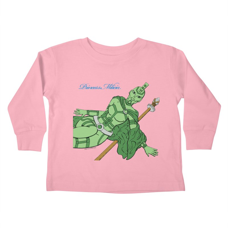 Princess Milicia after Roxy Music Kids Toddler Longsleeve T-Shirt by The Official Bustillo Publishing Shop