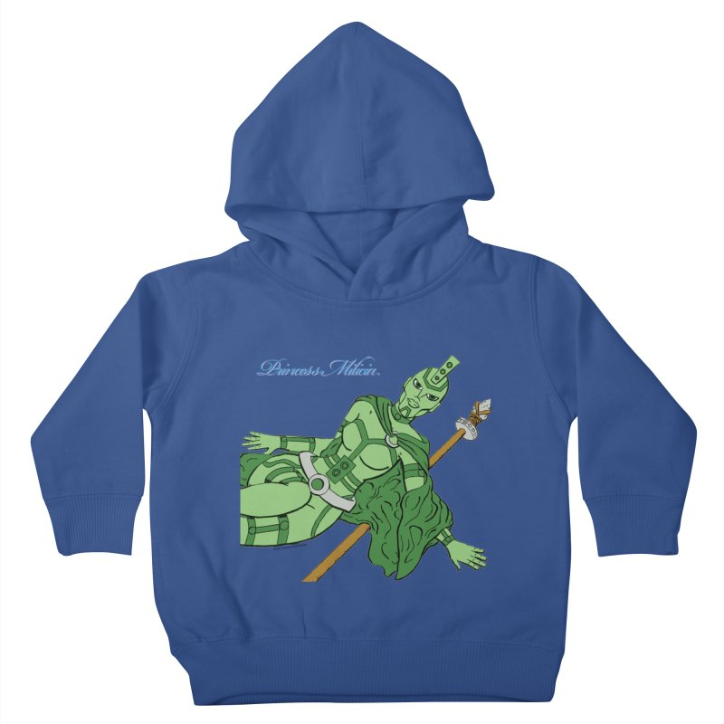 Princess Milicia after Roxy Music Kids Toddler Pullover Hoody by The Official Bustillo Publishing Shop