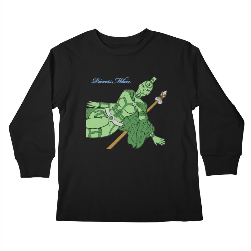 Princess Milicia after Roxy Music Kids Longsleeve T-Shirt by The Official Bustillo Publishing Shop