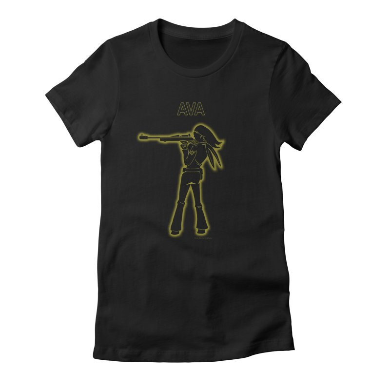 Ava after Electric Warrior Women's Fitted T-Shirt by The Official Bustillo Publishing Shop