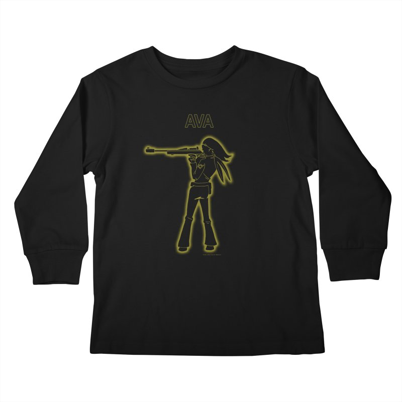 Ava after Electric Warrior Kids Longsleeve T-Shirt by The Official Bustillo Publishing Shop