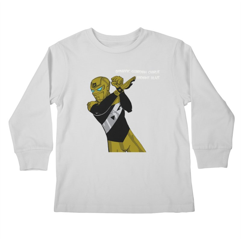 Dynamic Guardian Charlie after Raw Power Kids Longsleeve T-Shirt by The Official Bustillo Publishing Shop