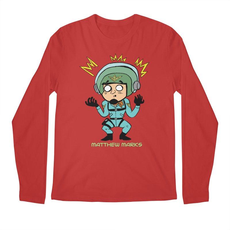 Matthew Marks Surprised Men's Regular Longsleeve T-Shirt by The Official Bustillo Publishing Shop