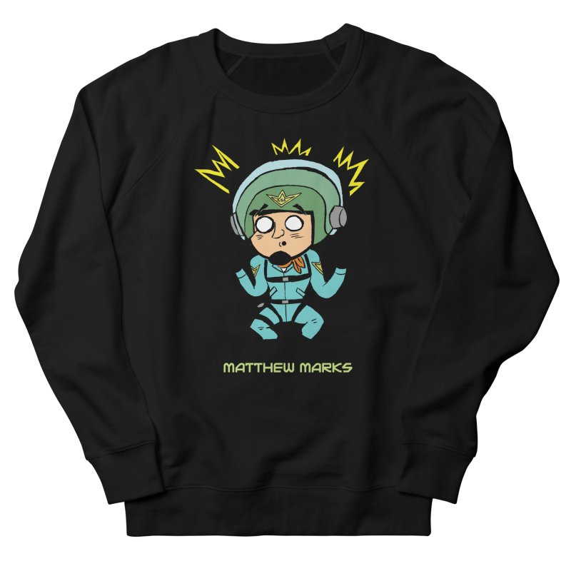 Matthew Marks Surprised Men's French Terry Sweatshirt by The Official Bustillo Publishing Shop