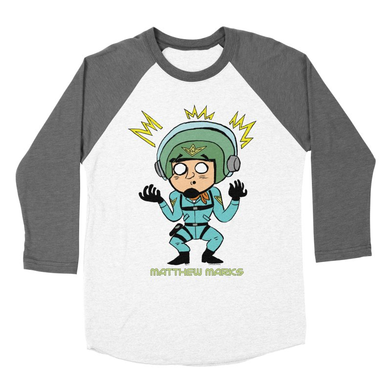 Matthew Marks Surprised Men's Baseball Triblend Longsleeve T-Shirt by The Official Bustillo Publishing Shop