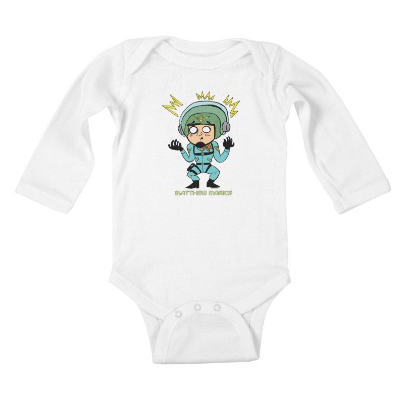 Matthew Marks Surprised Kids Baby Longsleeve Bodysuit by The Official Bustillo Publishing Shop