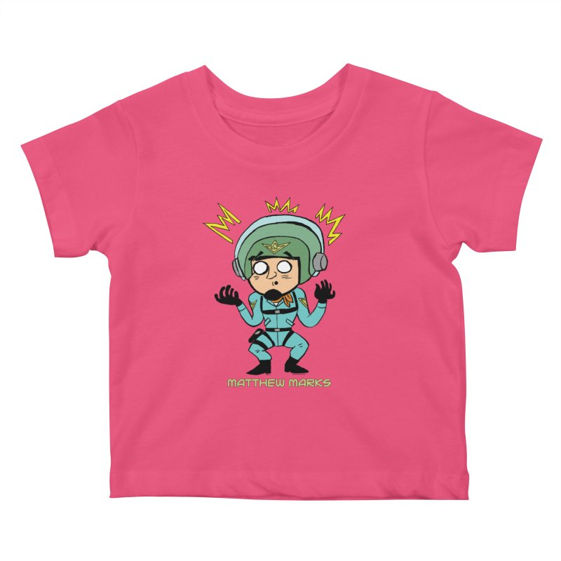 Matthew Marks Surprised Kids Baby T-Shirt by The Official Bustillo Publishing Shop