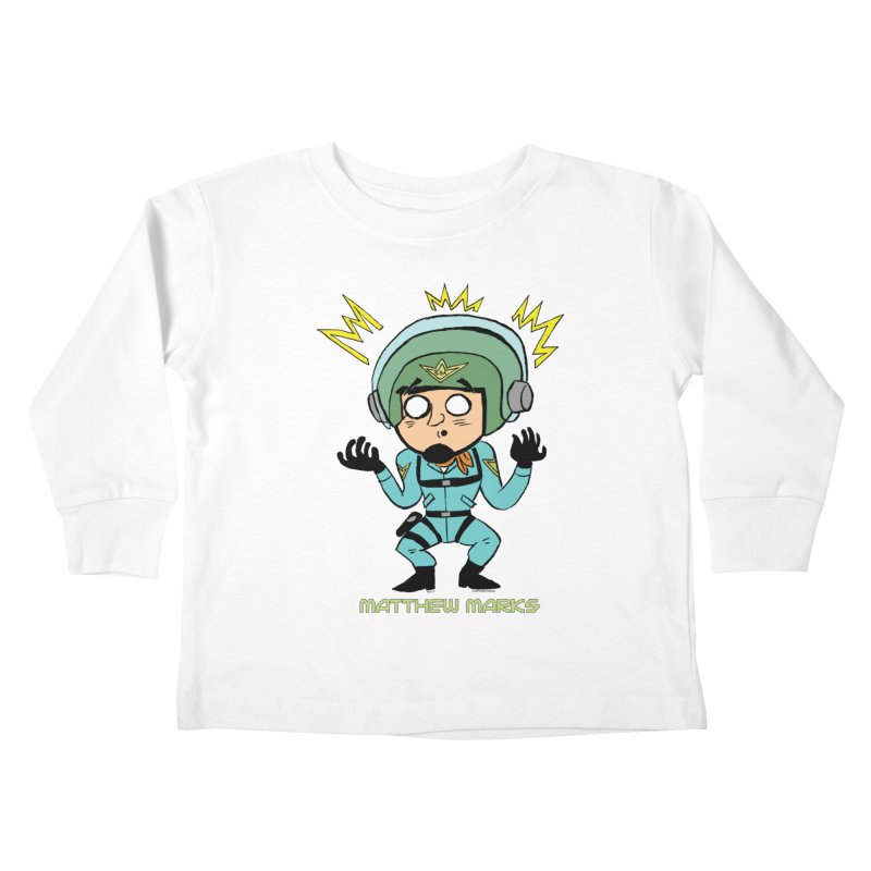 Matthew Marks Surprised Kids Toddler Longsleeve T-Shirt by The Official Bustillo Publishing Shop