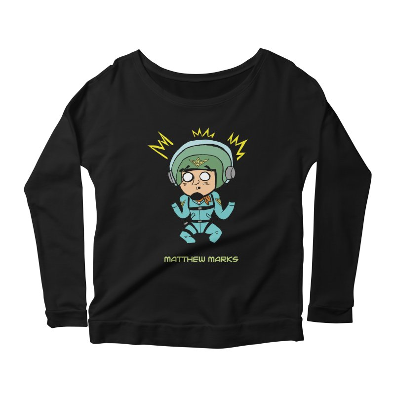 Matthew Marks Surprised Women's Scoop Neck Longsleeve T-Shirt by The Official Bustillo Publishing Shop