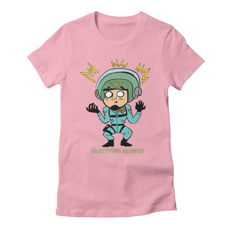 Matthew Marks Surprised Women's Fitted T-Shirt by The Official Bustillo Publishing Shop