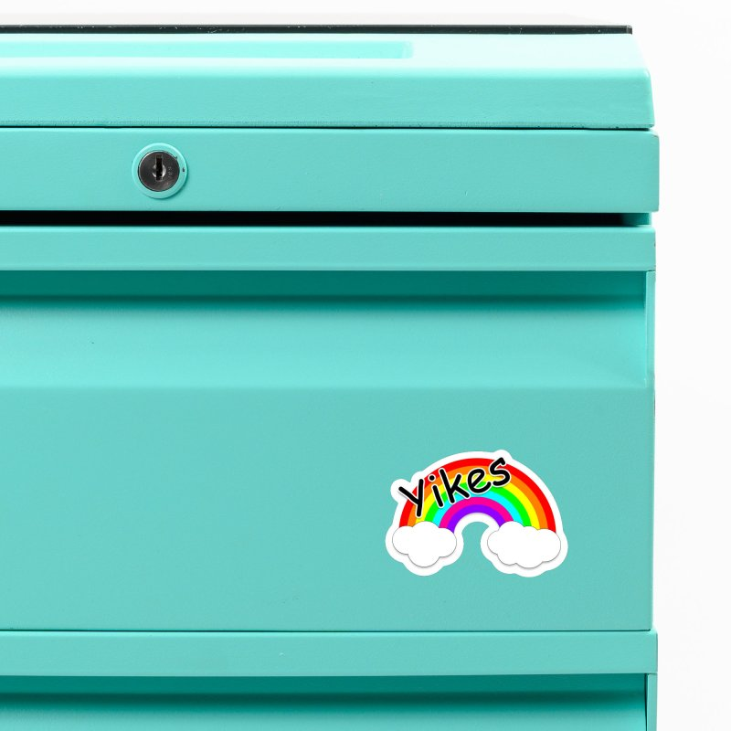 Yikes The Rainbow Accessories Magnet by busybee apparel