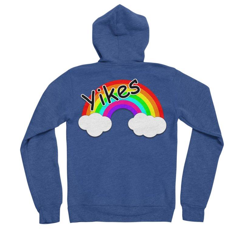 Yikes The Rainbow Men's Sponge Fleece Zip-Up Hoody by busybee apparel