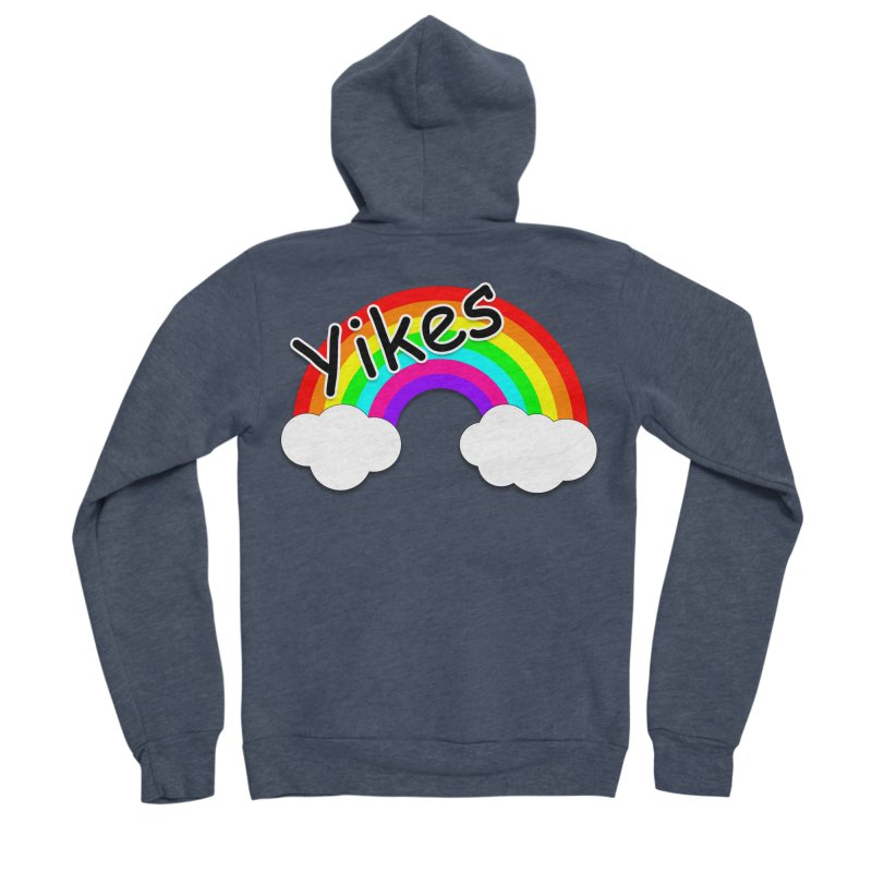 Yikes The Rainbow Women's Sponge Fleece Zip-Up Hoody by busybee apparel