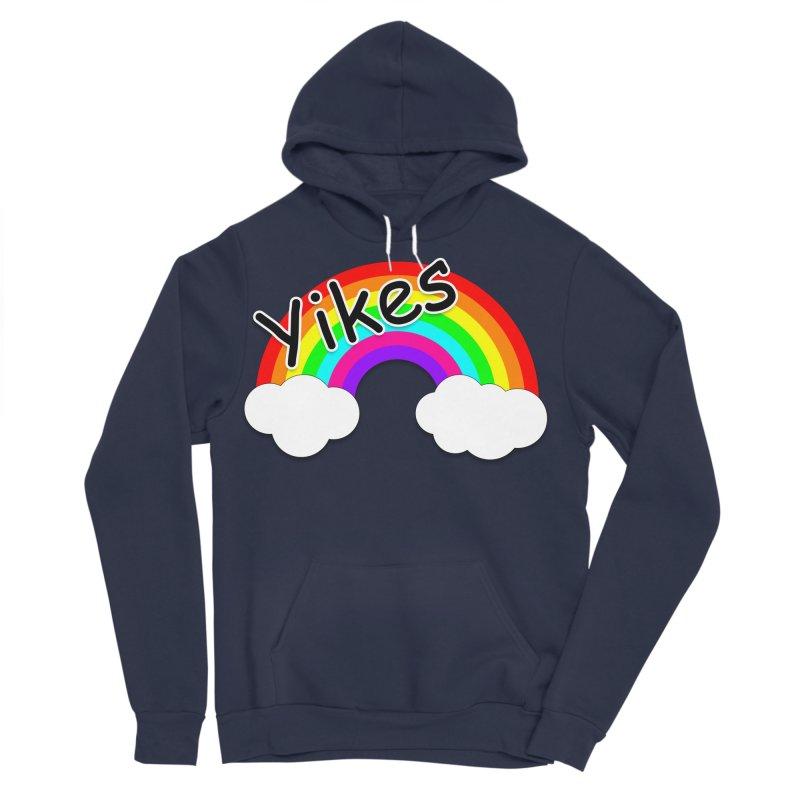 Yikes The Rainbow Women's Sponge Fleece Pullover Hoody by busybee apparel
