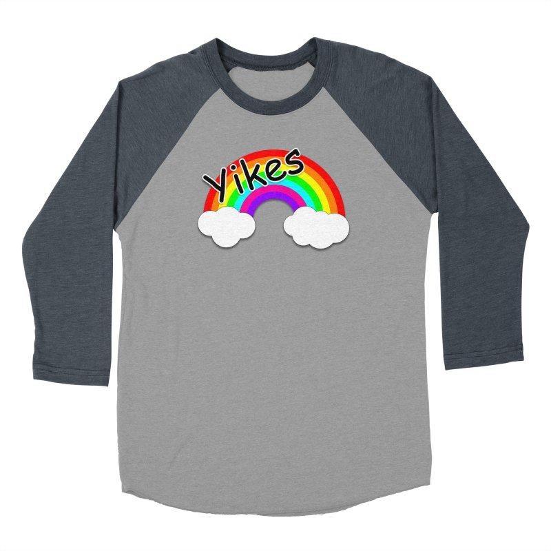 Yikes The Rainbow Men's Baseball Triblend Longsleeve T-Shirt by busybee apparel