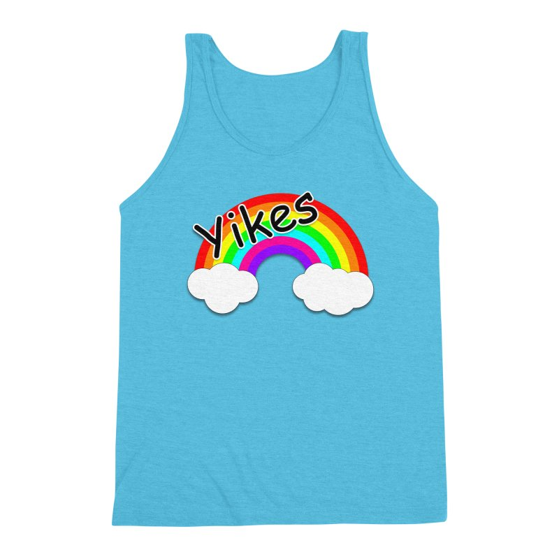 Yikes The Rainbow Men's Triblend Tank by busybee apparel