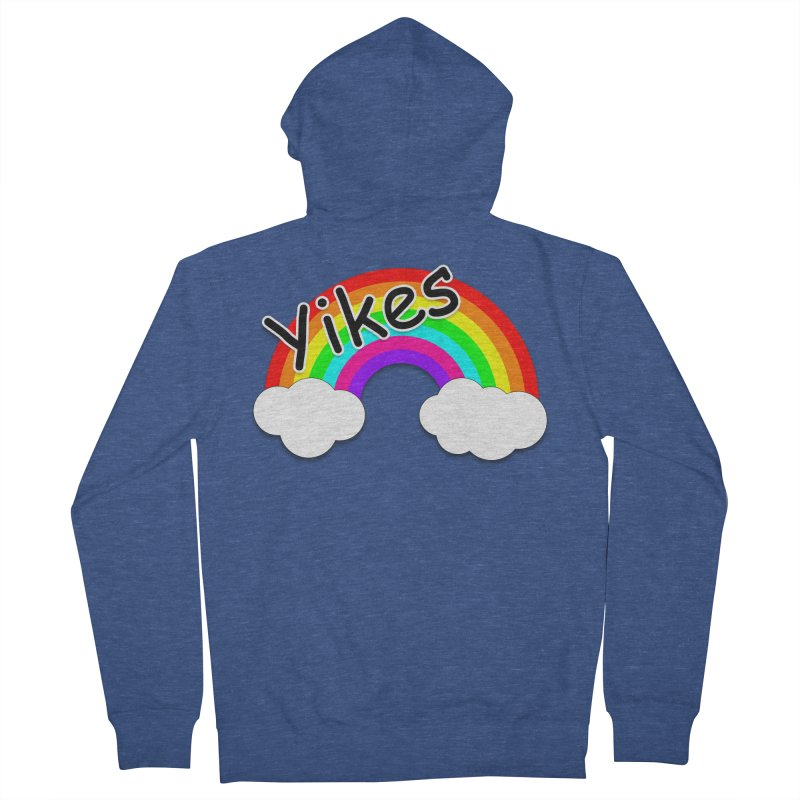 Yikes The Rainbow Women's French Terry Zip-Up Hoody by busybee apparel