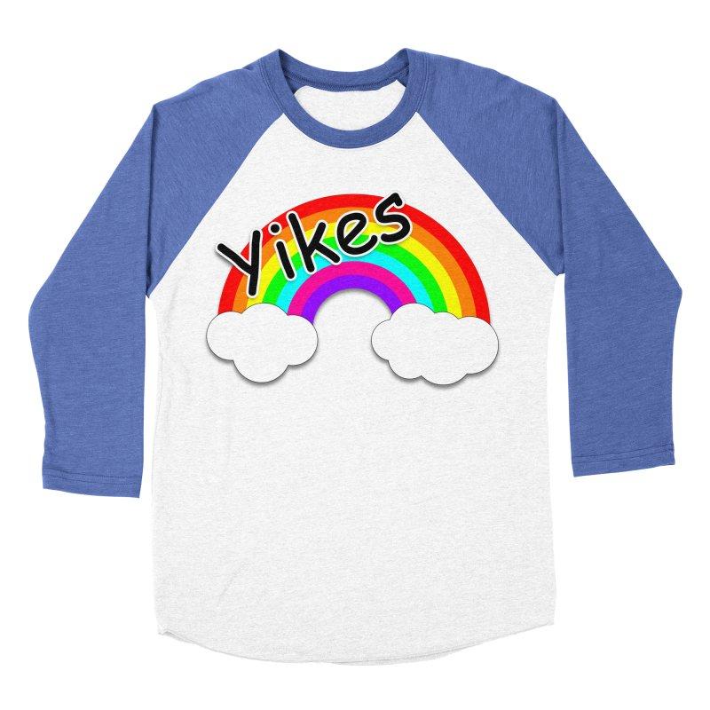 Yikes The Rainbow Women's Baseball Triblend Longsleeve T-Shirt by busybee apparel