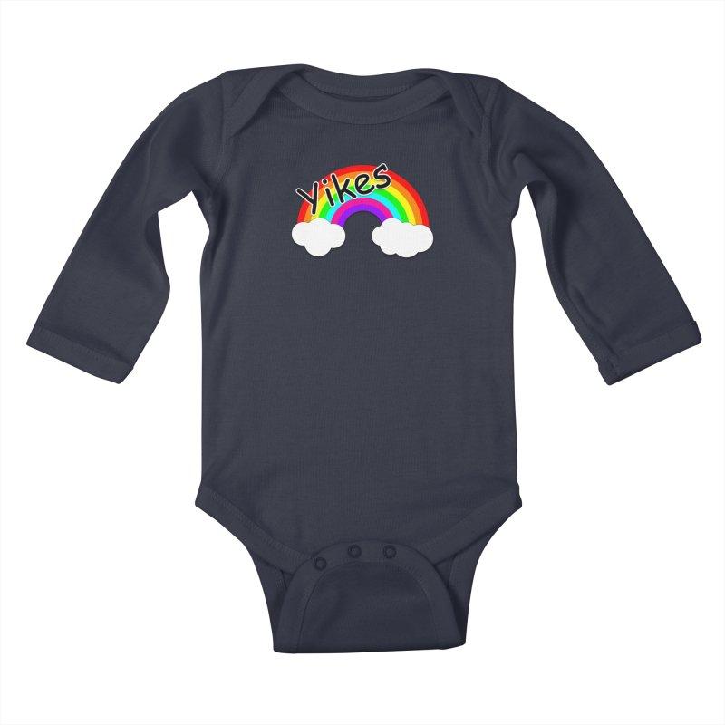 Yikes The Rainbow Kids Baby Longsleeve Bodysuit by busybee apparel