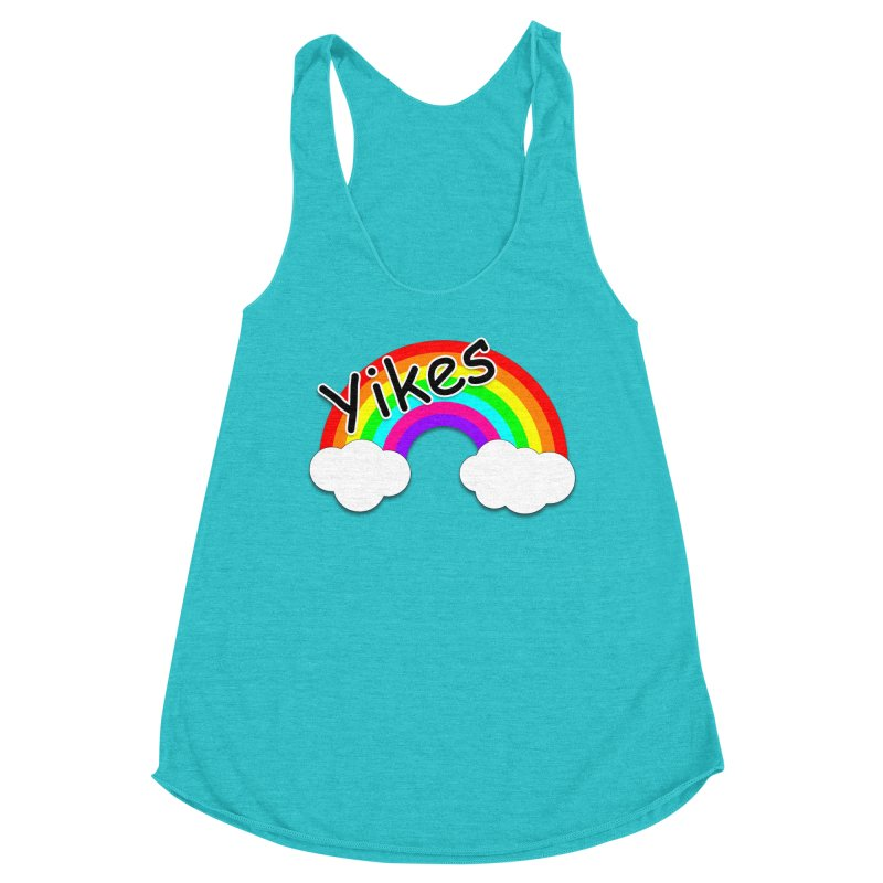 Yikes The Rainbow Women's Racerback Triblend Tank by busybee apparel