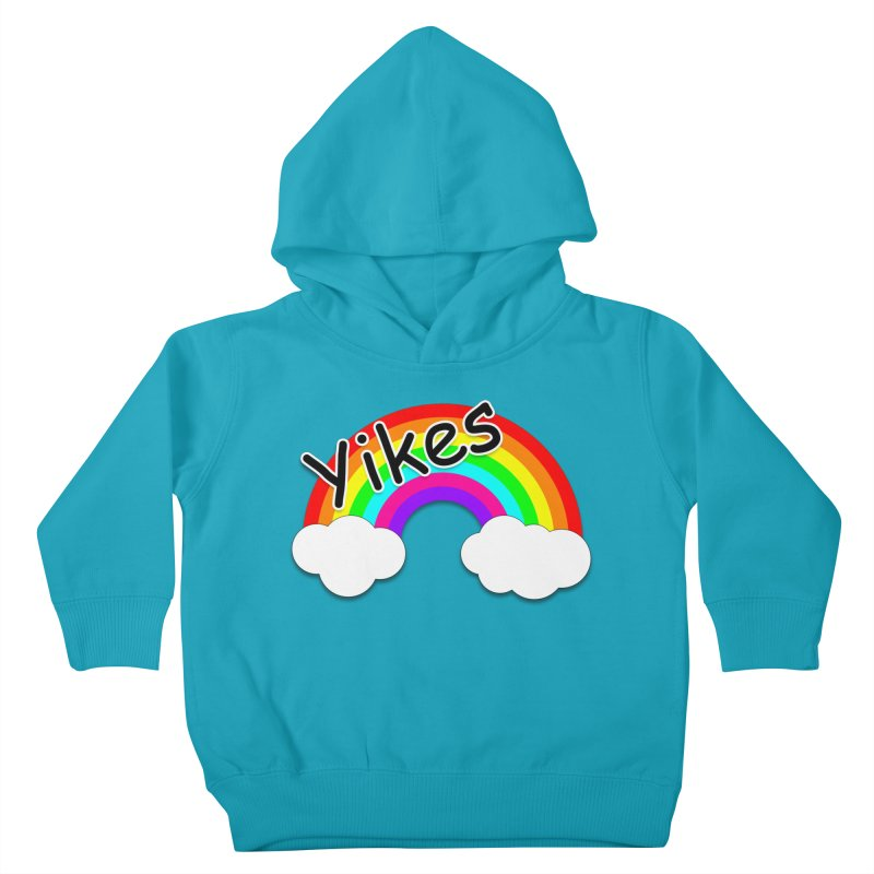Yikes The Rainbow Kids Toddler Pullover Hoody by busybee apparel