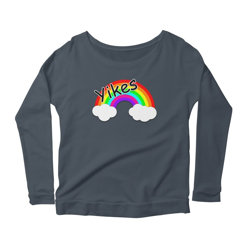 Yikes The Rainbow Women's Scoop Neck Longsleeve T-Shirt by busybee apparel