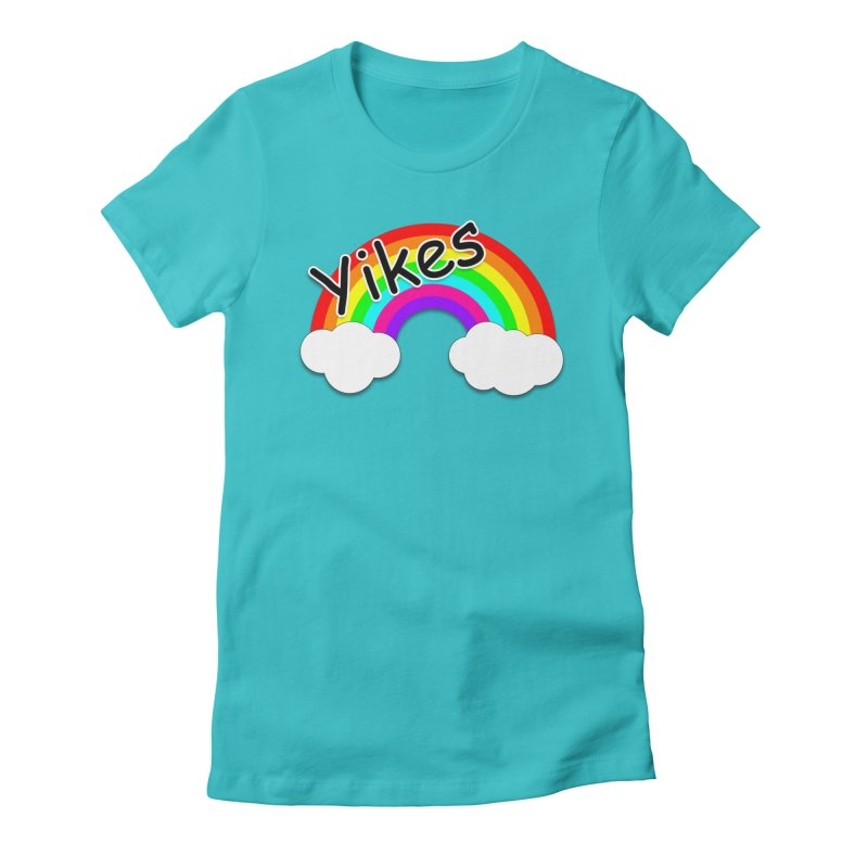 Yikes The Rainbow Women's Fitted T-Shirt by busybee apparel