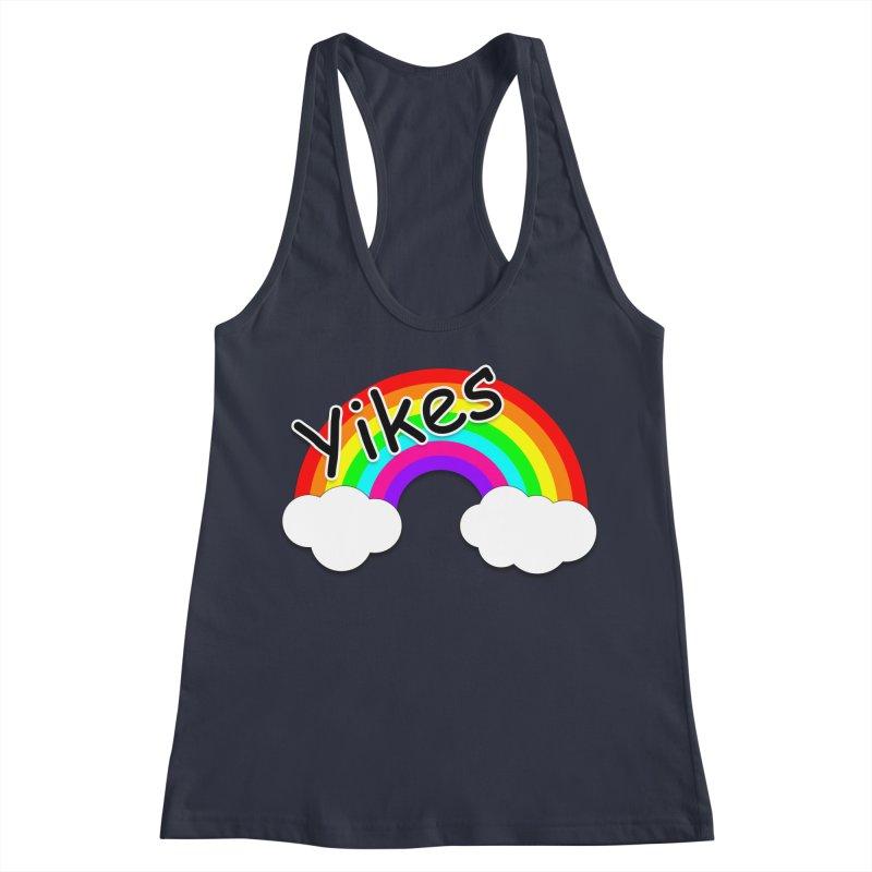 Yikes The Rainbow Women's Racerback Tank by busybee apparel