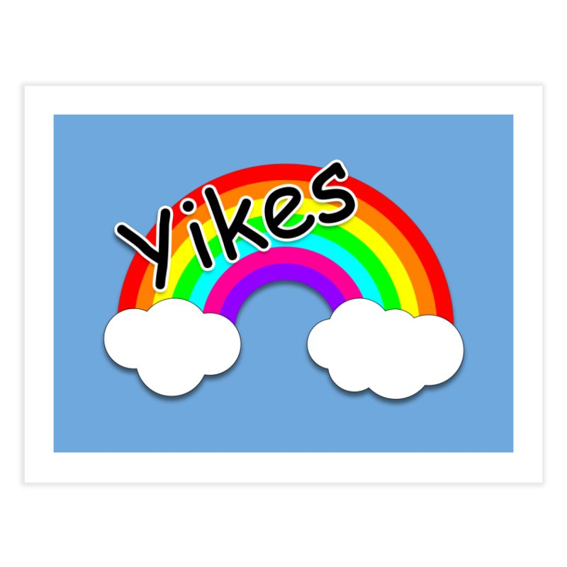 Yikes The Rainbow Home Fine Art Print by busybee apparel