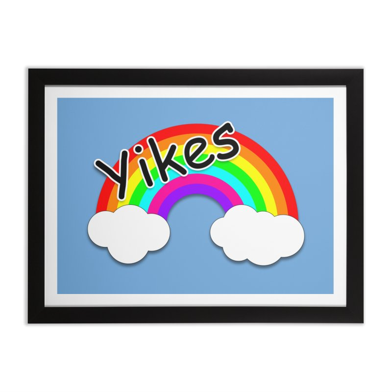 Yikes The Rainbow Home Framed Fine Art Print by busybee apparel