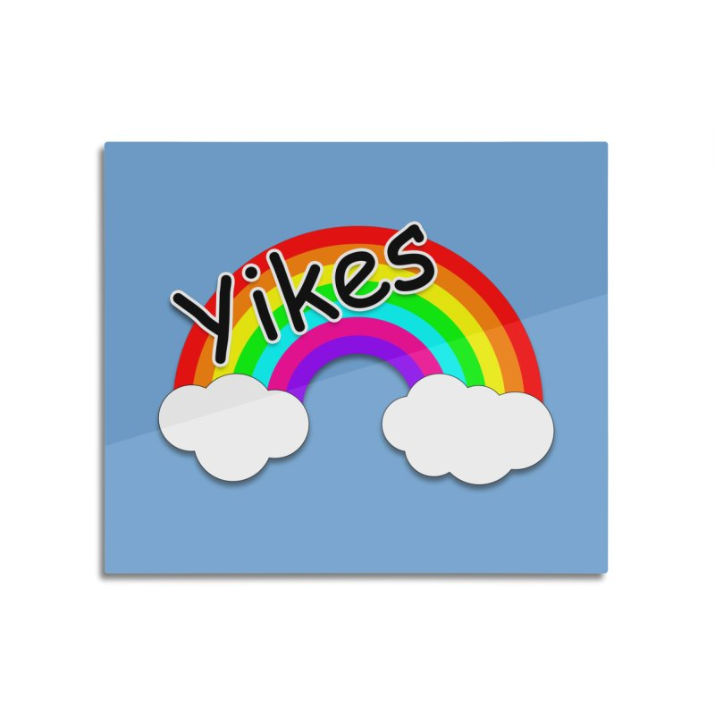Yikes The Rainbow Home Mounted Acrylic Print by busybee apparel