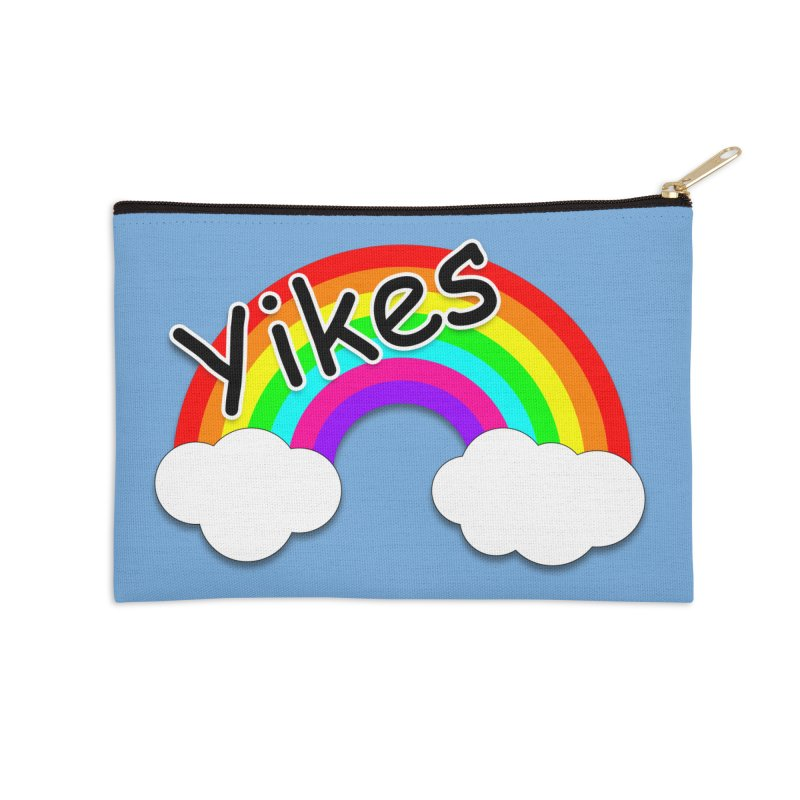 Yikes The Rainbow Accessories Zip Pouch by busybee apparel