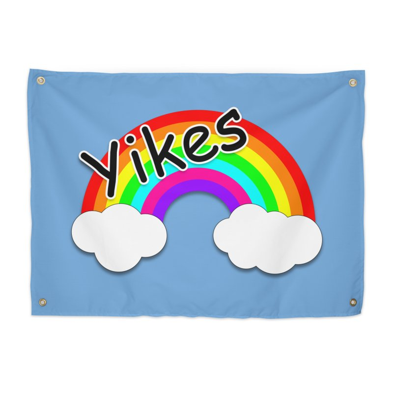 Yikes The Rainbow Home Tapestry by busybee apparel