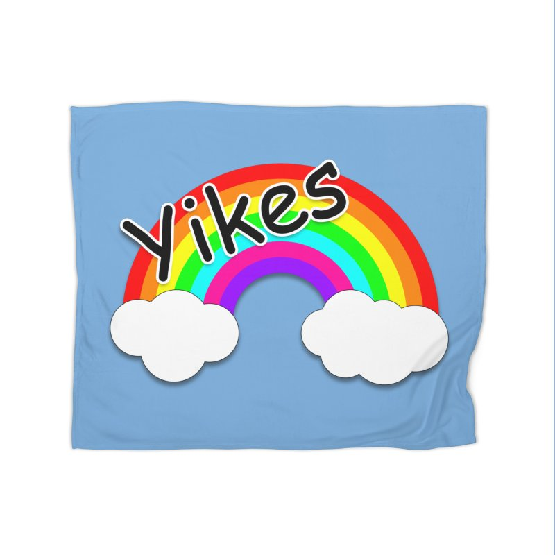 Yikes The Rainbow Home Fleece Blanket Blanket by busybee apparel