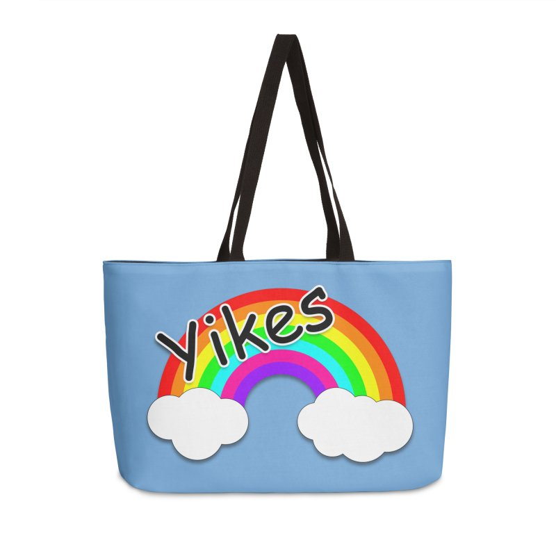 Yikes The Rainbow Accessories Weekender Bag Bag by busybee apparel