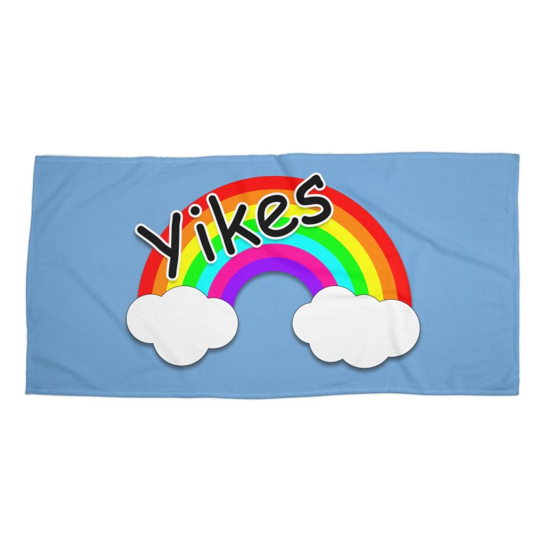 Yikes The Rainbow Accessories Beach Towel by busybee apparel