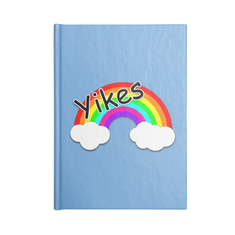 Yikes The Rainbow Accessories Notebook by busybee apparel