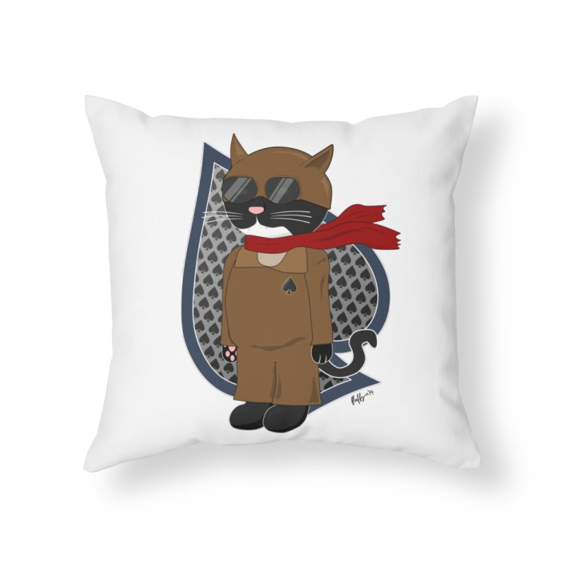Ace of Spades Home Throw Pillow by busybee apparel