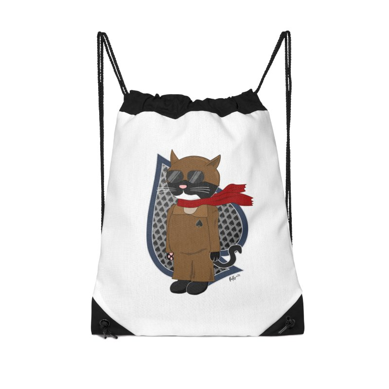 Ace of Spades Accessories Drawstring Bag Bag by busybee apparel