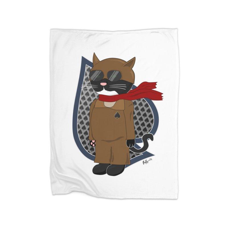 Ace of Spades Home Fleece Blanket Blanket by busybee apparel