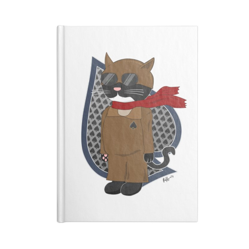 Ace of Spades Accessories Lined Journal Notebook by busybee apparel
