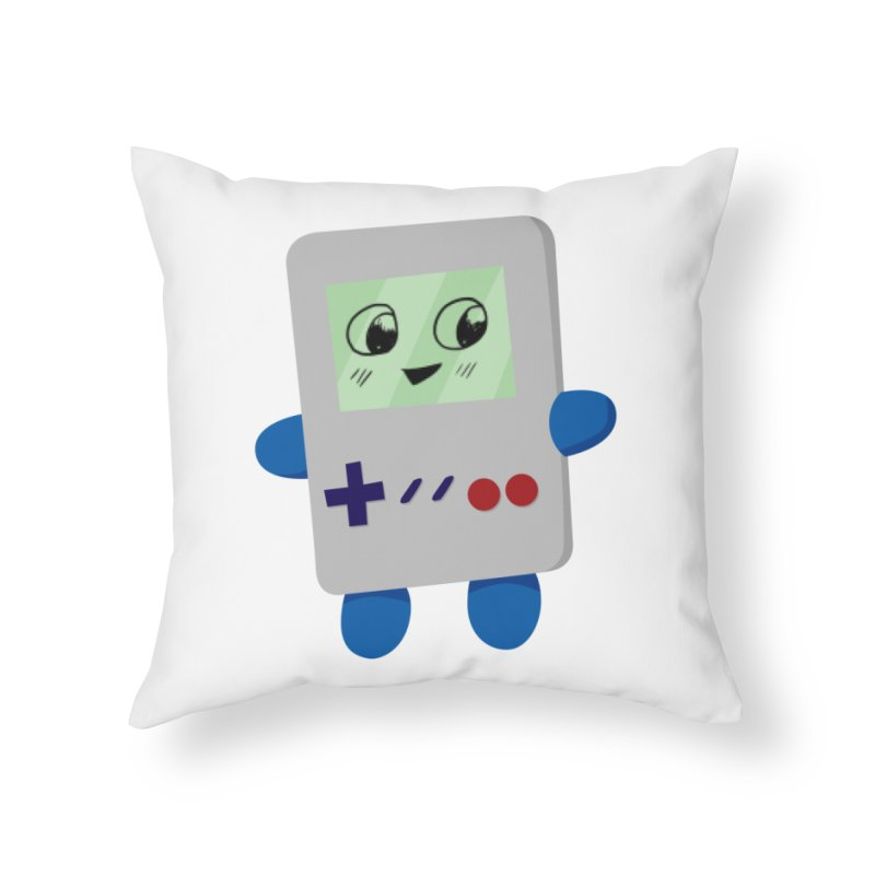 Chibi GB-Chan! Home Throw Pillow by busybee apparel