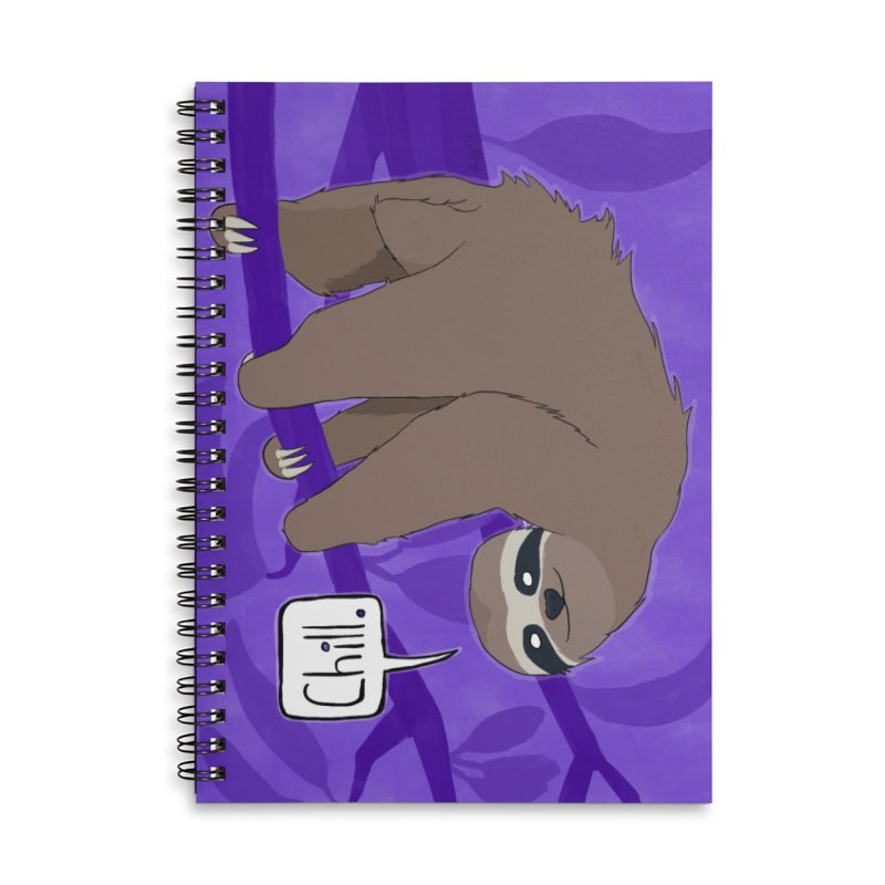 Chill (purple) Accessories Lined Spiral Notebook by busybee apparel