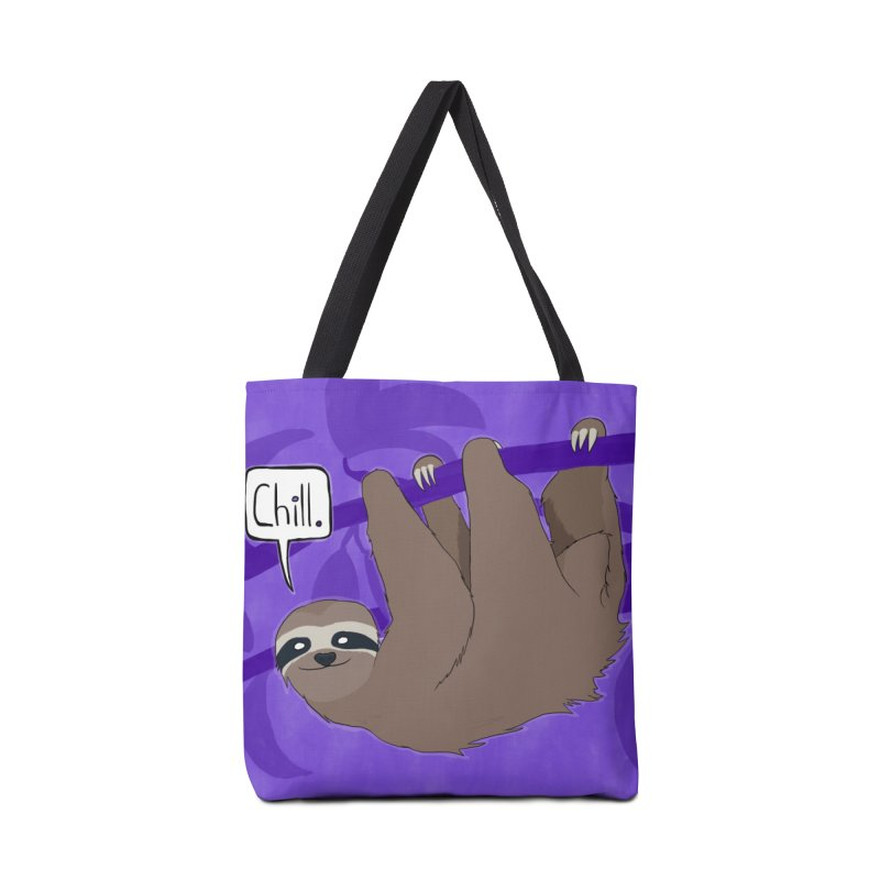 Chill (purple) Accessories Tote Bag Bag by busybee apparel