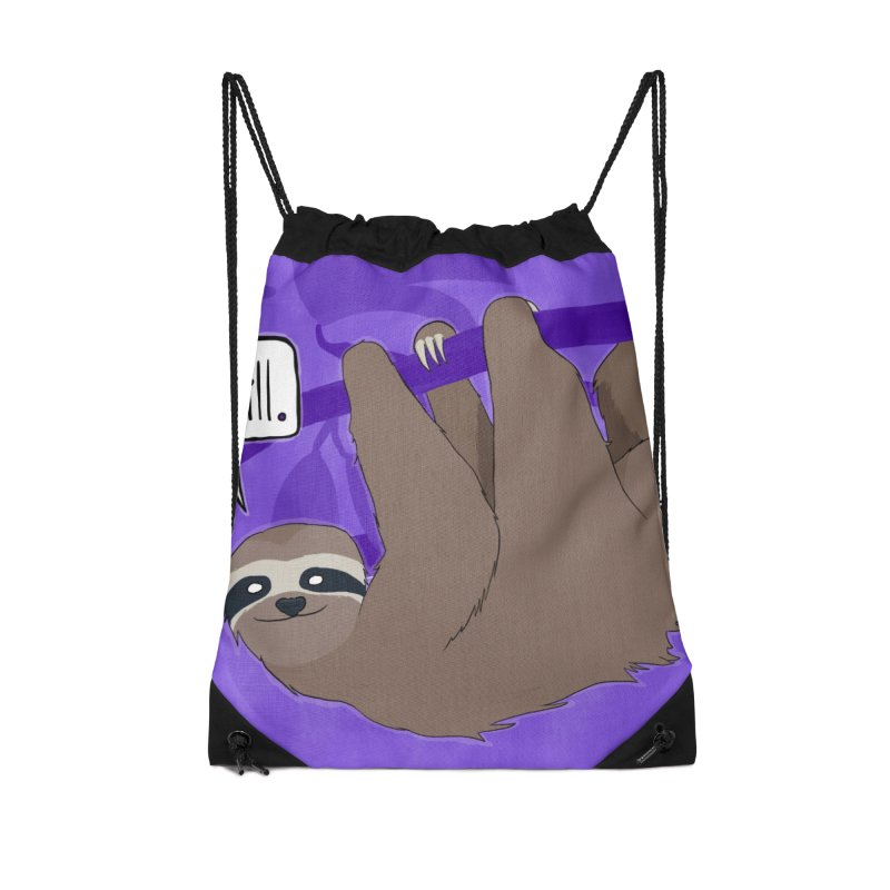 Chill (purple) Accessories Drawstring Bag Bag by busybee apparel