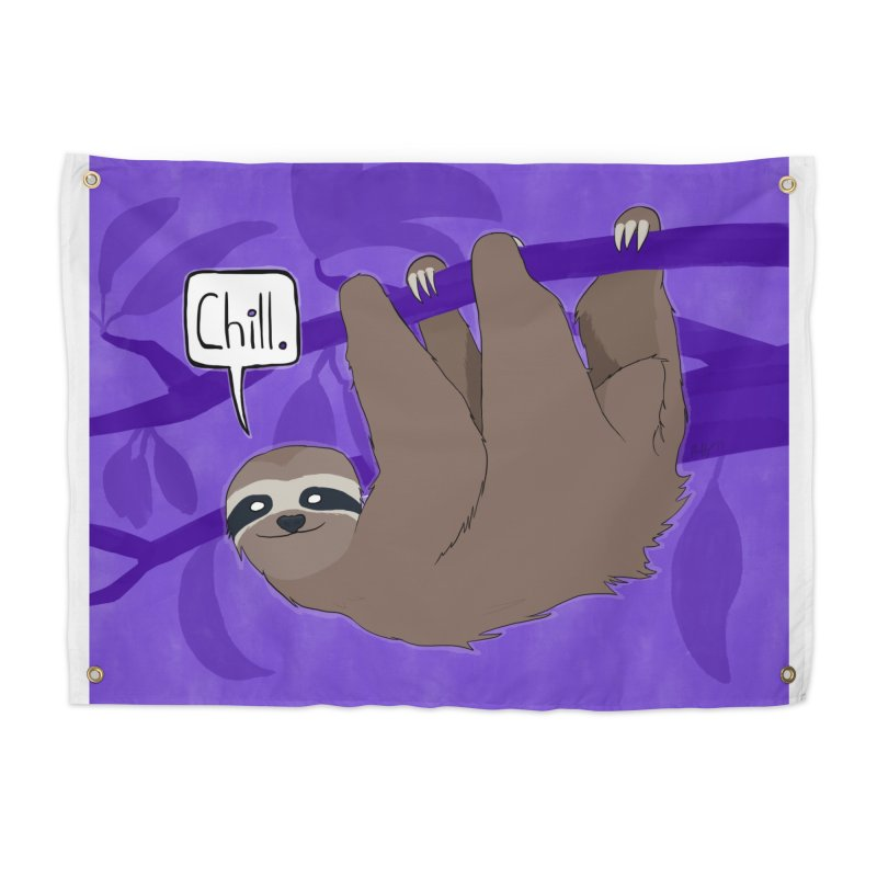 Chill (purple) Home Tapestry by busybee apparel