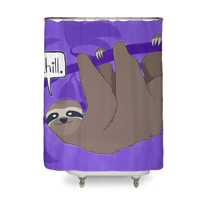 Chill (purple) Home Shower Curtain by busybee apparel