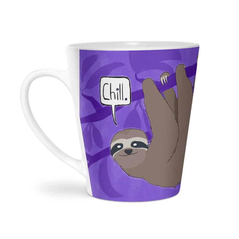 Chill (purple) Accessories Latte Mug by busybee apparel