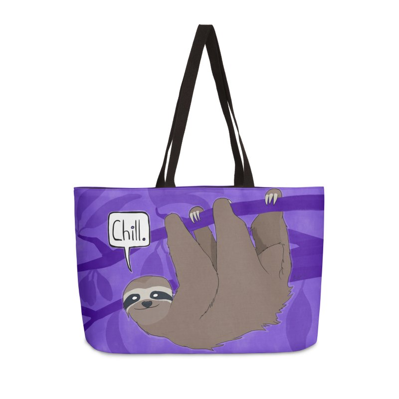 Chill (purple) Accessories Weekender Bag Bag by busybee apparel
